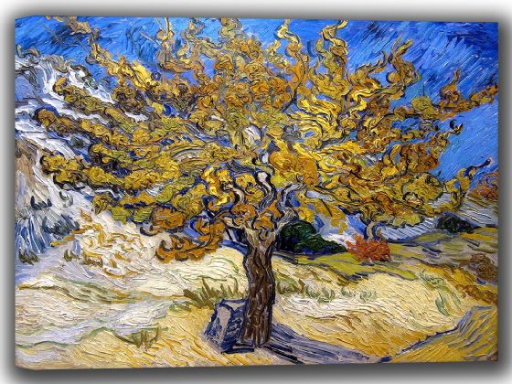 Van Gogh, Vincent: Mulberry Tree. Fine Art Canvas. Sizes: A4/A3/A2/A1 (002682)